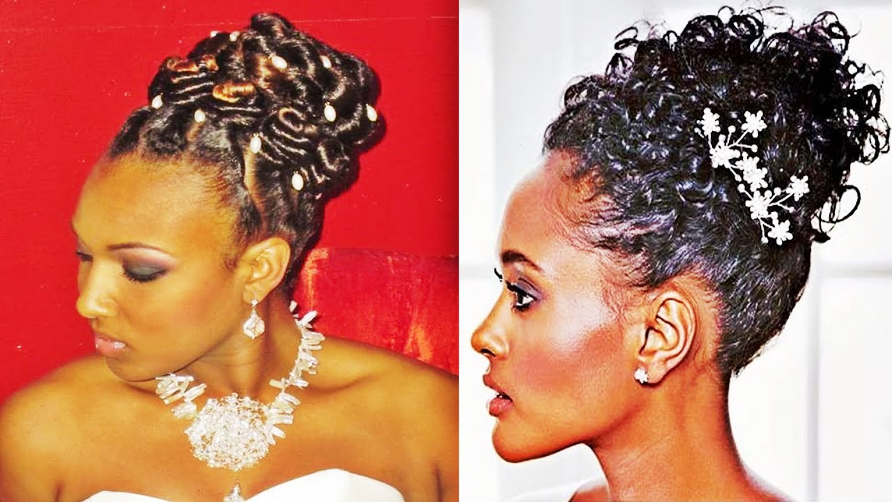 Pin Up Hairstyles Wedding For Black Women
