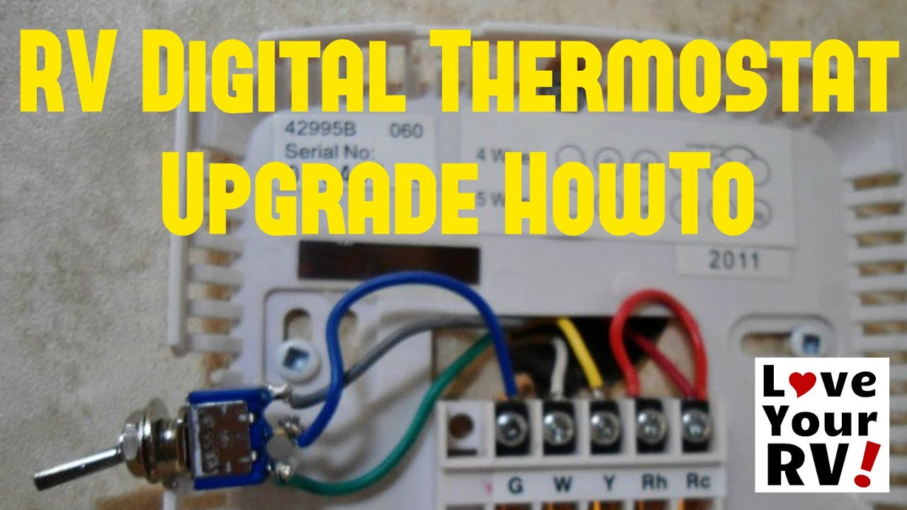 small resolution of hunter 42999b rv thermostat upgrade youtube install hunter thermostat wiring a hunter thermostat