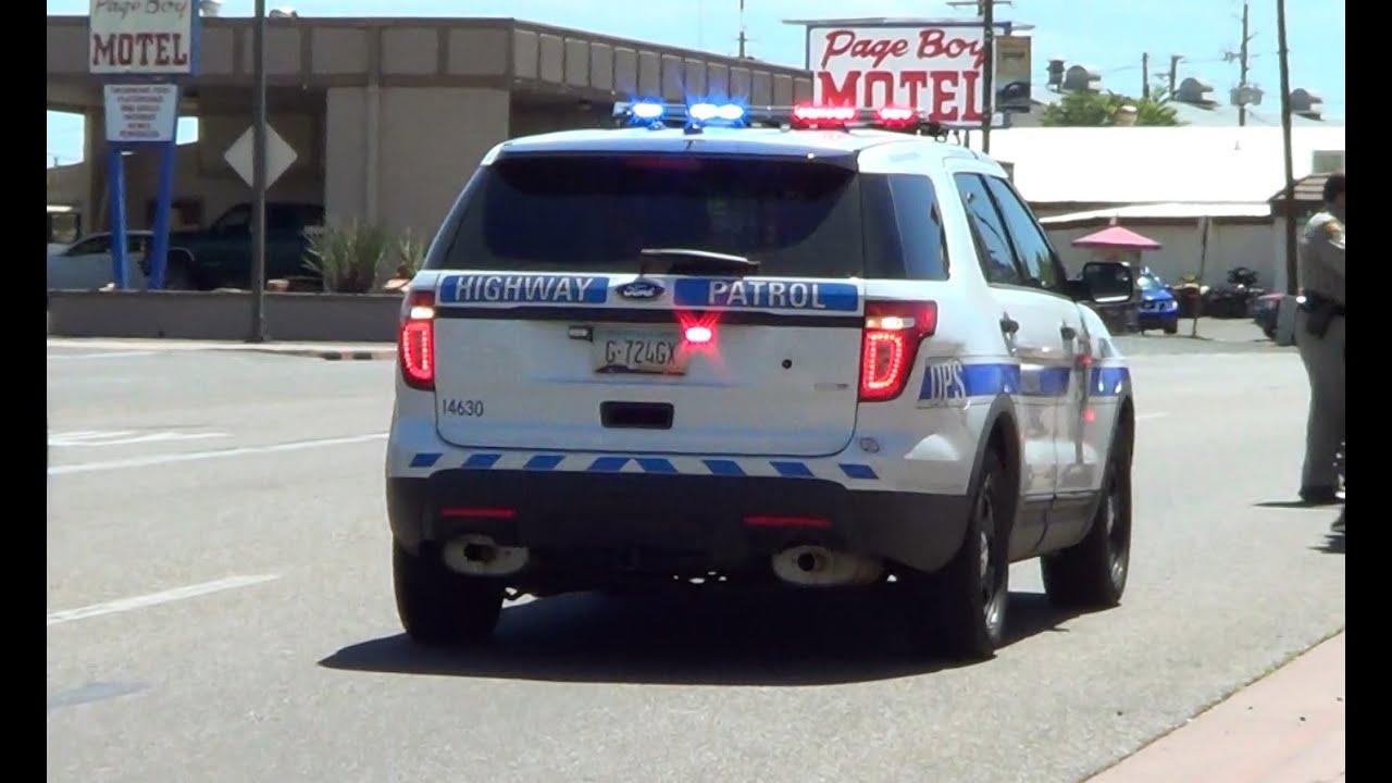 Flagstaff Arizona DPS Highway Patrol Ford Explorer at a traffic
