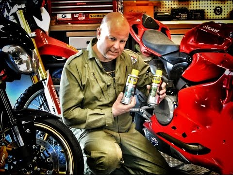how to lube motorcycle chain without stand