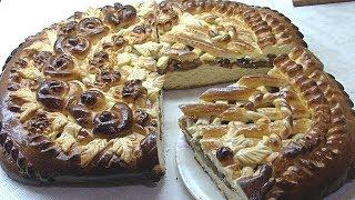 Дрожжевой пирог с грушами,украшение.