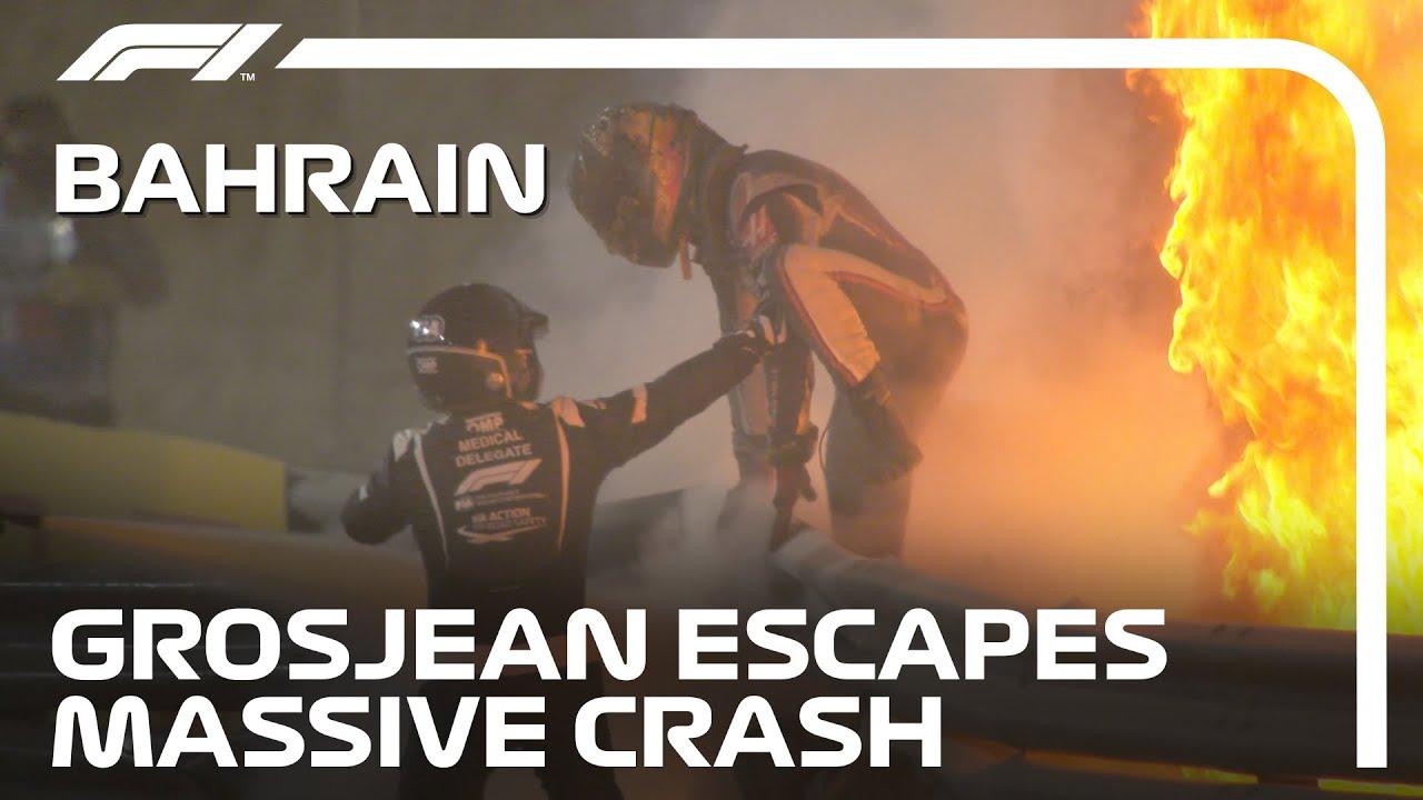 How Romain Grosjean walked away from F1's scariest crash in ...