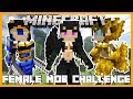 Minecraft - MYTHICAL FEMALE MOB CHALLENGE (BATTLE WAVES OF MYTHICAL WOMEN TO GET TO THE TREASURE!!!)