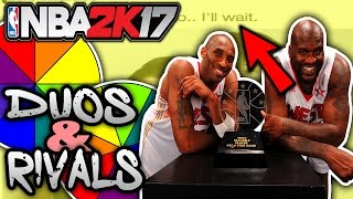 Name a more iconic duo spin the wheel! nba 2k17 squad builder