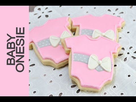 BABY ONESIE DECORATED COOKIES FOR A BABY SHOWER   YouTube