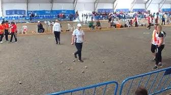 WM 2019 in Almeria/Spanien - 1/8tel-Finale Doublette-Damen gegen Frankreich