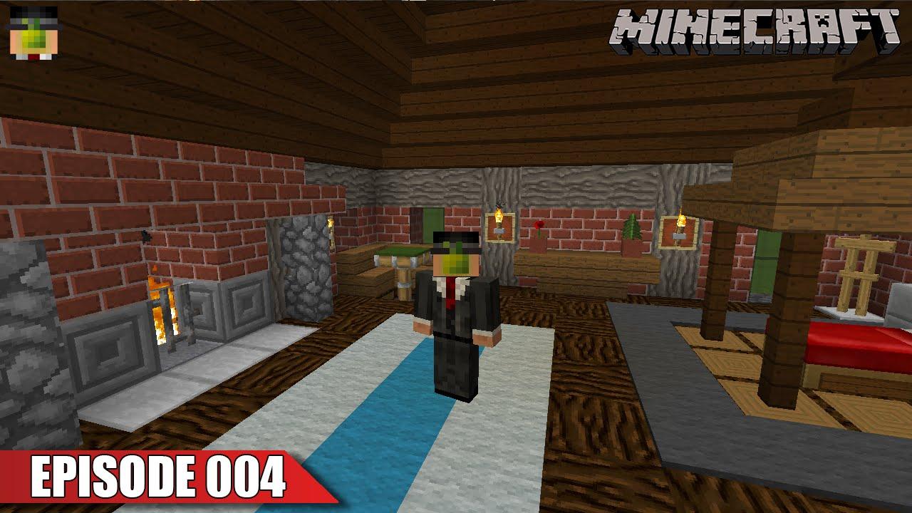 Interior Design Building A Fireplace Survival Vanilla Minecraft Ep 004