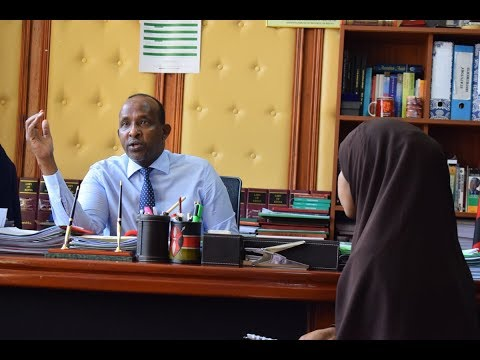 Majority Leader and Garissa Township MP  Aden Duale talks to