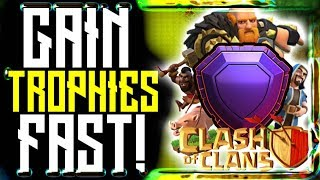 Best CLASH OF CLANS Trophy Push Attack Strategy 2018! ⚔ Hog Riders! (Farming TH9, TH10, TH11, TH12)