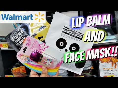 Shop With ME Walmart LIP BALM HUNT FACE MASK 2018