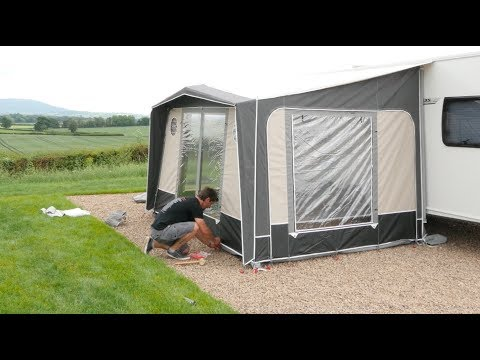 Practical Caravan – how to pitch caravan awnings