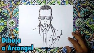 Aprende a dibujar a Arcangel - cantante de Reggaeton