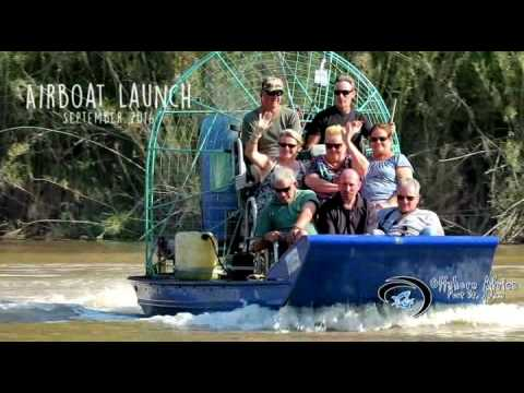 Offshore Africa air boat launch