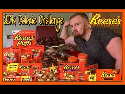 WORST 20,000 CALORIE REESES CHALLENGE YOU'LL EVER SEE!