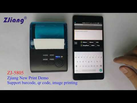 ZJ-5805 ZJiang portable mini bluetooth printer for android/ios - YouTube