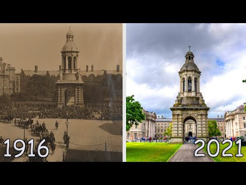 The Changing Dublin 1916-2021, Then And Now Photos
