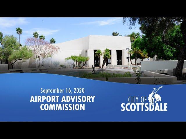 Airport Advisory Commission - Wednesday, September 16, 2020