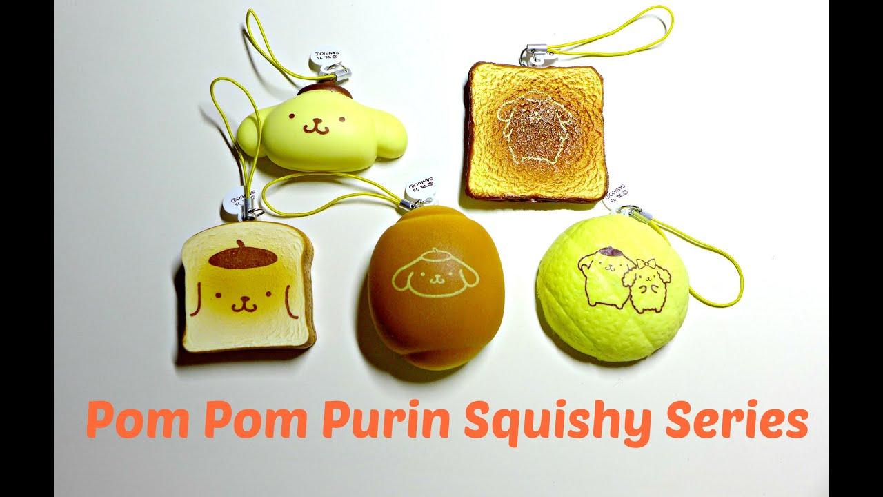 Pompompurin Squishy Bun : Koro Koro Pom Pom Purin Squishy Series - YouTube