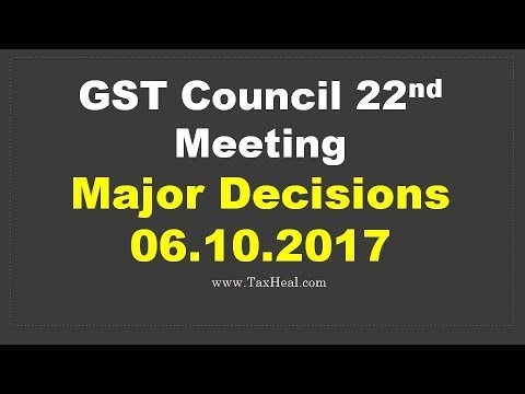GST Council meeting 06.10.2017 : 22nd Meeting : Press Conference by Arun Jaitley