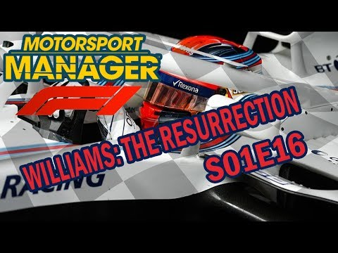 WILLIAMS: THE RESURRECTION #16 (S01E16) | MOTORSPORT MANAGER | REAL LIFE F1 MOD | PENULTIMATE RACE!