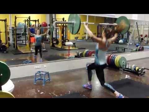 Alina Rotaru (6,75 m) — szakítás 70 kg-al
