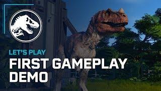 Jurassic World Evolution   First Official Gameplay Demo