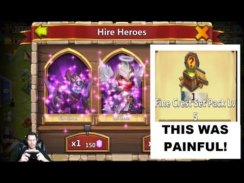 Rolling 55k For Heroes THAT Level 5 Crest Set Pack THO Castle Clash