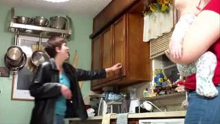 rubber rat in the kitchen cabinet prank 2