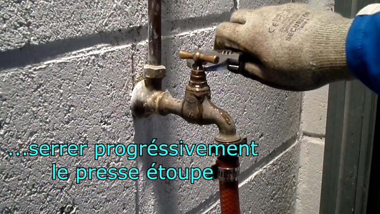 Robinet Chasse D Eau Qui Fuit à comment réparer une fuite d'eau sur un robinet de jardin ? - youtube