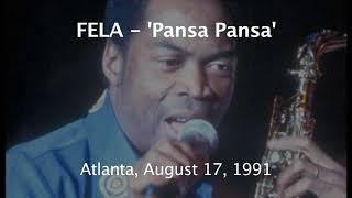 Fela Kuti in Atlanta, August 17, 1991 - 'Pansa Pansa'