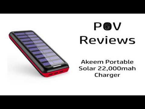 Akeem Portable Solar 22 000mah Charger Youtube