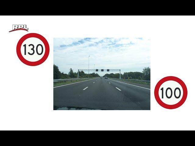 A12 terug naar 100 km