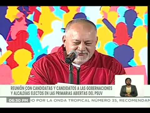 Diosdado Cabello lee lista de gobernadores decididos por el PSUV tras revisión en las primarias
