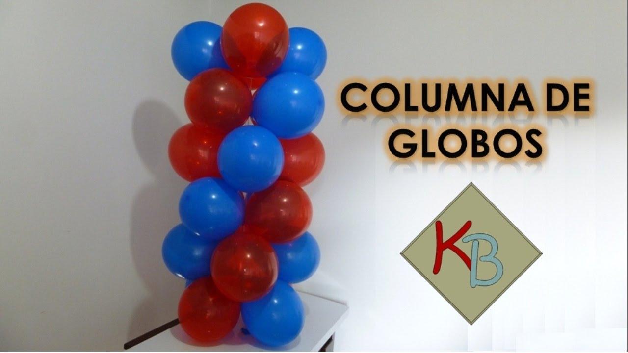Como hacer una columna de globos youtube - Como decorar una columna ...