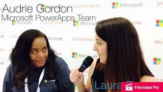 #MSIgnite Laura interviews Audrey Gordon