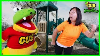 Outdoor Play Adventures at the Playground Park with Ryan's Mom! Surprise Egg Hunt + MORE!