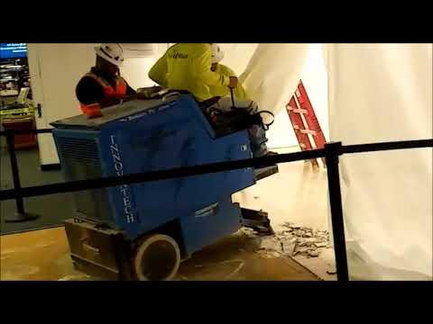 Demolition Of Tile With Huge Machine Youtube