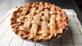 Peach Pie - How to Make a Lattice-Top Peach Pie