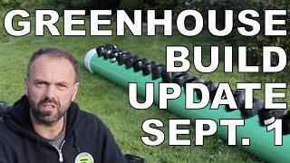 Passive Solar Greenhouse Build Progress Update September 1, 2020