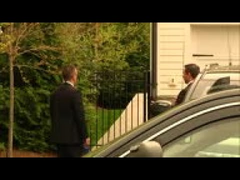 US Attorney General Barr seen leaving house