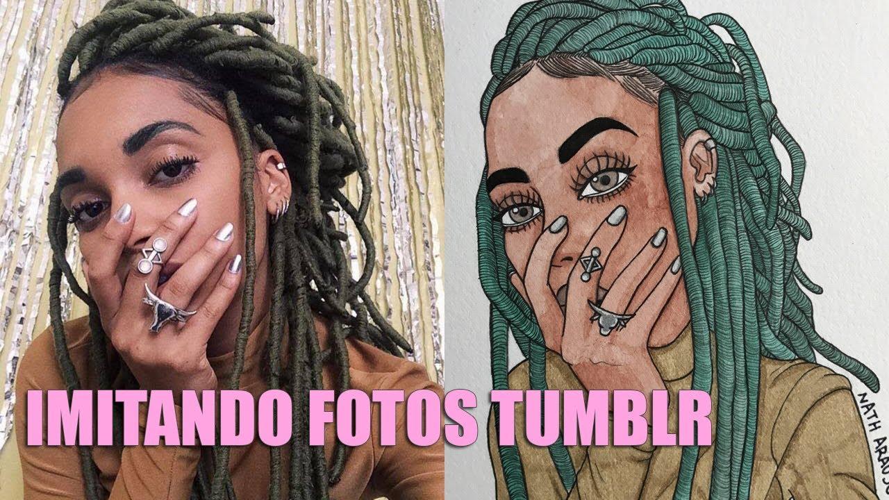 Imitando Fotos Tumblr Com Desenhos 1 Nath Araujo Youtube