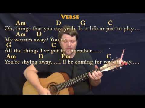 Take on Me a ha Strum Guitar Cover Lesson in G with ChordsLyrics