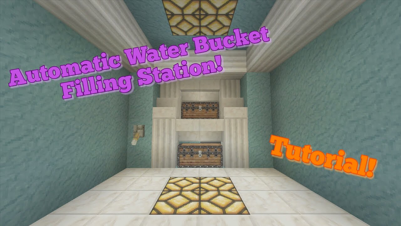 how to build a water bucket in minecraft
