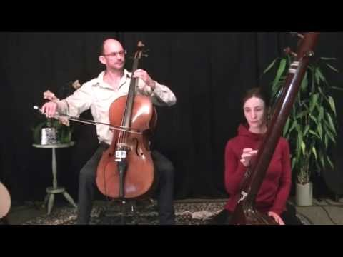 Kalyan Mitto Eastern style cello improvisation with Mahadevi on tamboura