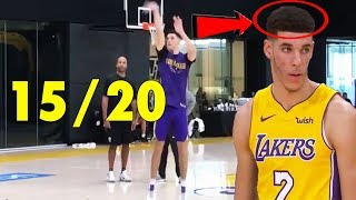 Lonzo Ball with NEW HAIRCUT hits 15/20 3-Pointers!