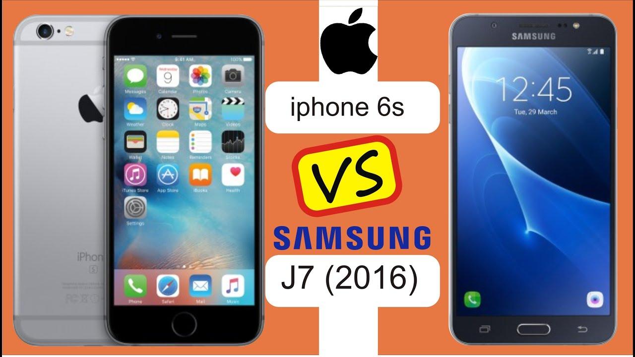 SAMSUNG J7 CONFRONTA CON IPHONE 6S