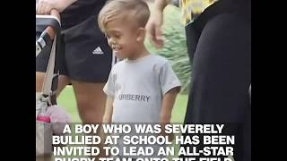 Boy allegedly bullied for dwarfism garners support after video goes viral | ABC News