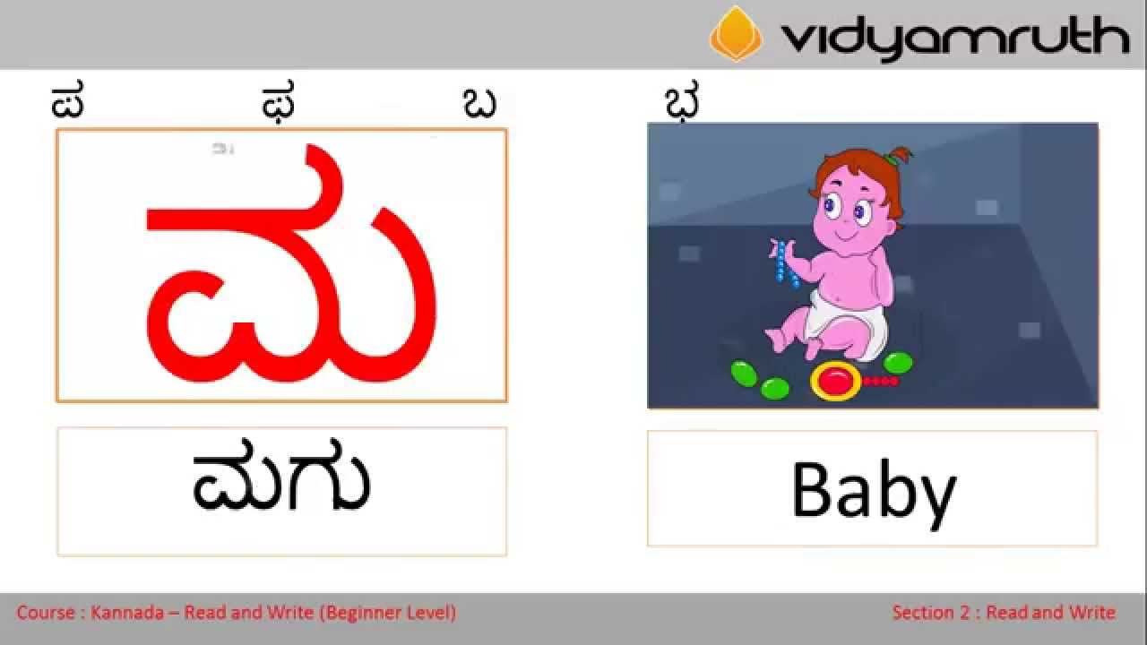 Read and Write Kannada - Sample class for Read N Write Section