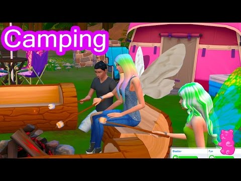 Camping - Fairy Fantasy FairyTale SIMS 4 Game Let's Play Dating Video Series Part 8