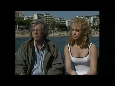Elizabeth Berkley and Paul Verhoeven interview at Cannes Film Festival, 1995